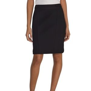 WHBM black seamed pencil skirt sz 8